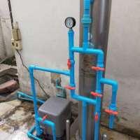 งานติดตั้งปั๊มน้ำและเปลี่ยนท่อหน้าถังกรอง